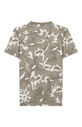 Детская хлопковая футболка STONE ISLAND хаки цвета, арт. 721621650/6-8 | Фото 2