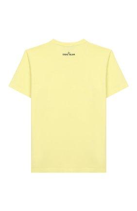Детская хлопковая футболка STONE ISLAND желтого цвета, арт. 721621059/4 | Фото 2