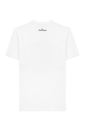 Детская хлопковая футболка STONE ISLAND белого цвета, арт. 721621055/10-12 | Фото 2