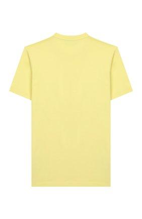 Детская хлопковая футболка STONE ISLAND желтого цвета, арт. 721620147/14 | Фото 2