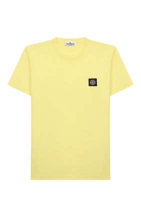 Детская хлопковая футболка STONE ISLAND желтого цвета, арт. 721620147/4 | Фото 1