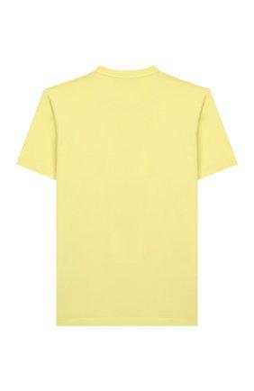 Детская хлопковая футболка STONE ISLAND желтого цвета, арт. 721620147/4 | Фото 2
