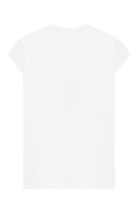Детская удлиненная футболка SCRAMBLED_EGO белого цвета, арт. BJ136 | Фото 2