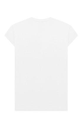 Детская удлиненная футболка SCRAMBLED_EGO белого цвета, арт. BJ130 | Фото 2