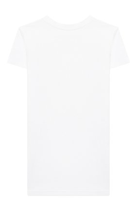 Детская хлопковая футболка SCRAMBLED_EGO белого цвета, арт. BJ106 | Фото 2
