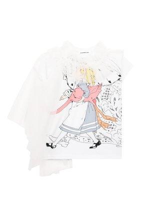 Детская хлопковая футболка SCRAMBLED_EGO белого цвета, арт. BJ104 | Фото 1