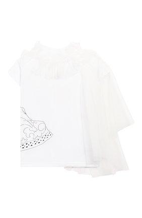 Детская хлопковая футболка SCRAMBLED_EGO белого цвета, арт. BJ104 | Фото 2