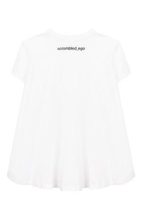 Детская хлопковая футболка SCRAMBLED_EGO белого цвета, арт. BJ103 | Фото 2
