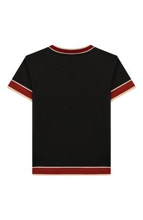 Детская хлопковая футболка DOLCE & GABBANA черного цвета, арт. L4JTBL/G7WG0/2-6 | Фото 2