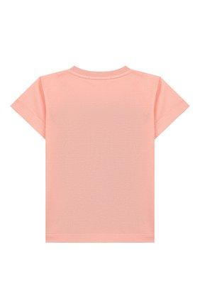 Детский хлопковая футболка DOLCE & GABBANA светло-розового цвета, арт. L2JTFF/G7WQV | Фото 2