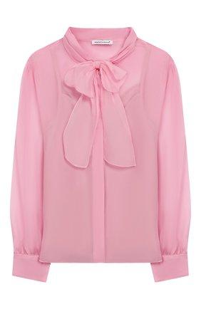 Детское шелковая блузка DOLCE & GABBANA светло-розового цвета, арт. L54S43/FU1AT/8-14 | Фото 1