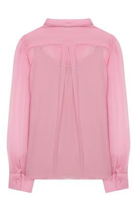 Детское шелковая блузка DOLCE & GABBANA светло-розового цвета, арт. L54S43/FU1AT/8-14 | Фото 2