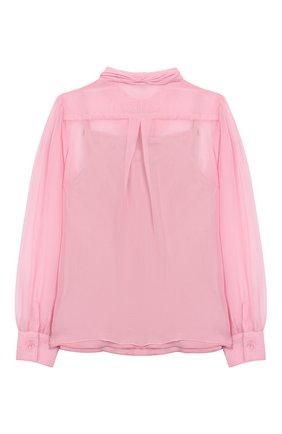 Детское шелковая блузка DOLCE & GABBANA светло-розового цвета, арт. L54S43/FU1AT/2-6 | Фото 2
