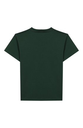 Детская хлопковая футболка DOLCE & GABBANA зеленого цвета, арт. L4JTBL/G7W0K/2-6 | Фото 2