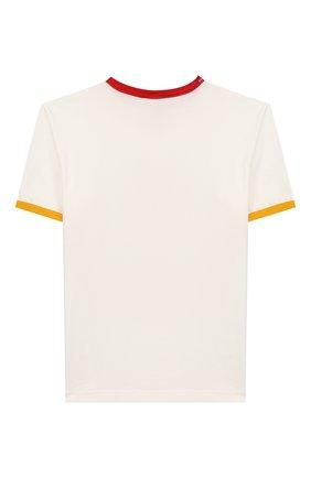 Детская хлопковая футболка DOLCE & GABBANA белого цвета, арт. L4JTBD/G7V00/8-14   Фото 2