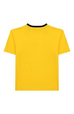 Детская хлопковая футболка DOLCE & GABBANA желтого цвета, арт. L4JTAU/G7V0M/2-6 | Фото 2