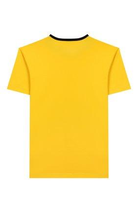 Детская хлопковая футболка DOLCE & GABBANA желтого цвета, арт. L4JTAU/G7V0M/8-14 | Фото 2