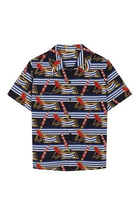 Детская хлопковая рубашка DOLCE & GABBANA синего цвета, арт. L43S06/HS5GS/8-14 | Фото 1
