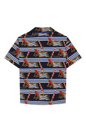 Детская хлопковая рубашка DOLCE & GABBANA синего цвета, арт. L43S06/HS5GS/8-14 | Фото 2