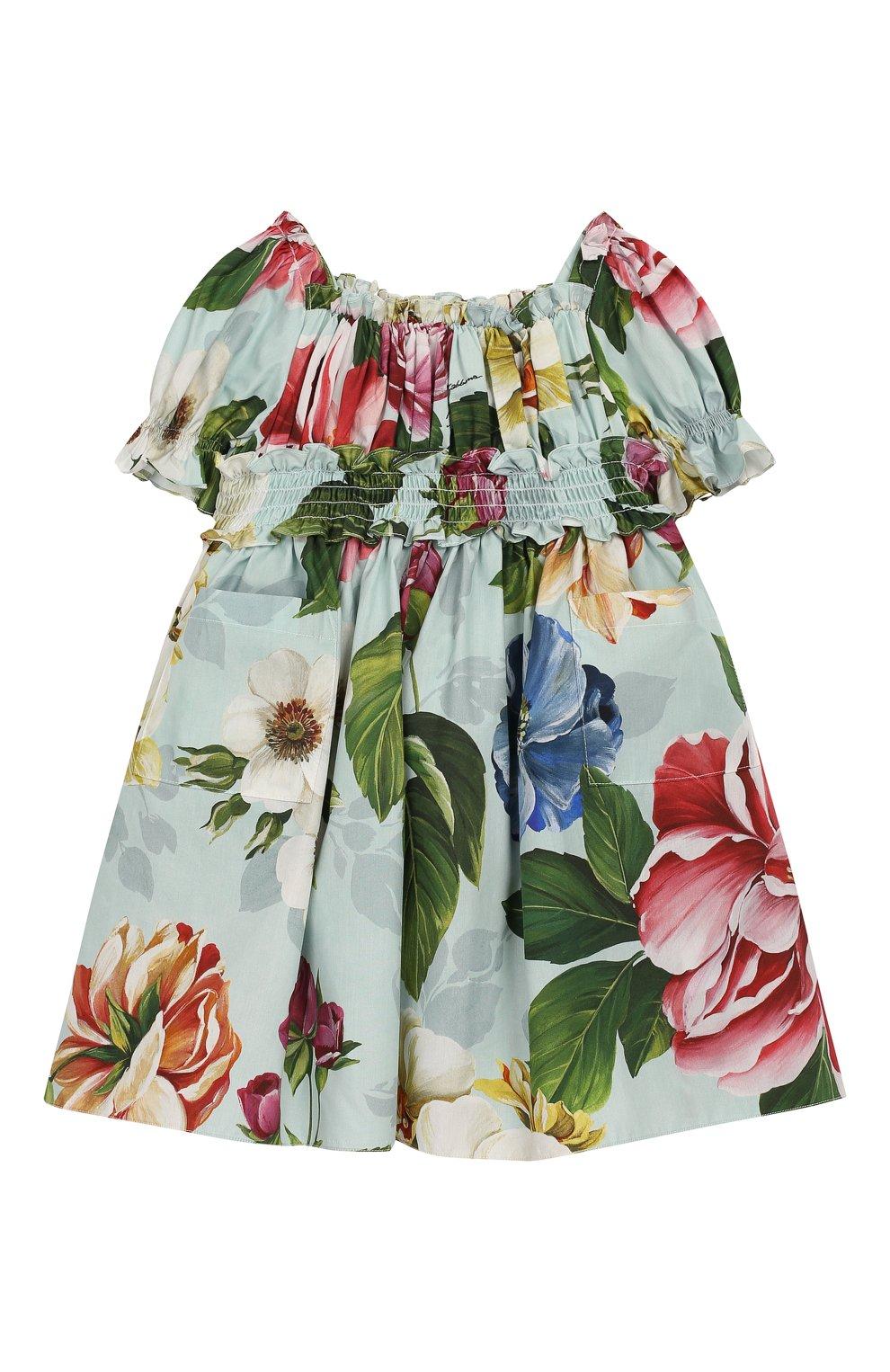 Женская комплект из платья и шорт DOLCE & GABBANA голубого цвета, арт. L22DE5/HS5GB | Фото 2