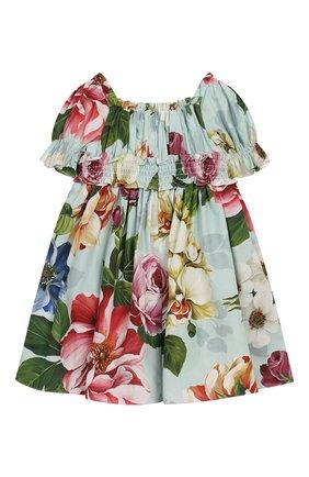 Женская комплект из платья и шорт DOLCE & GABBANA голубого цвета, арт. L22DE5/HS5GB | Фото 3