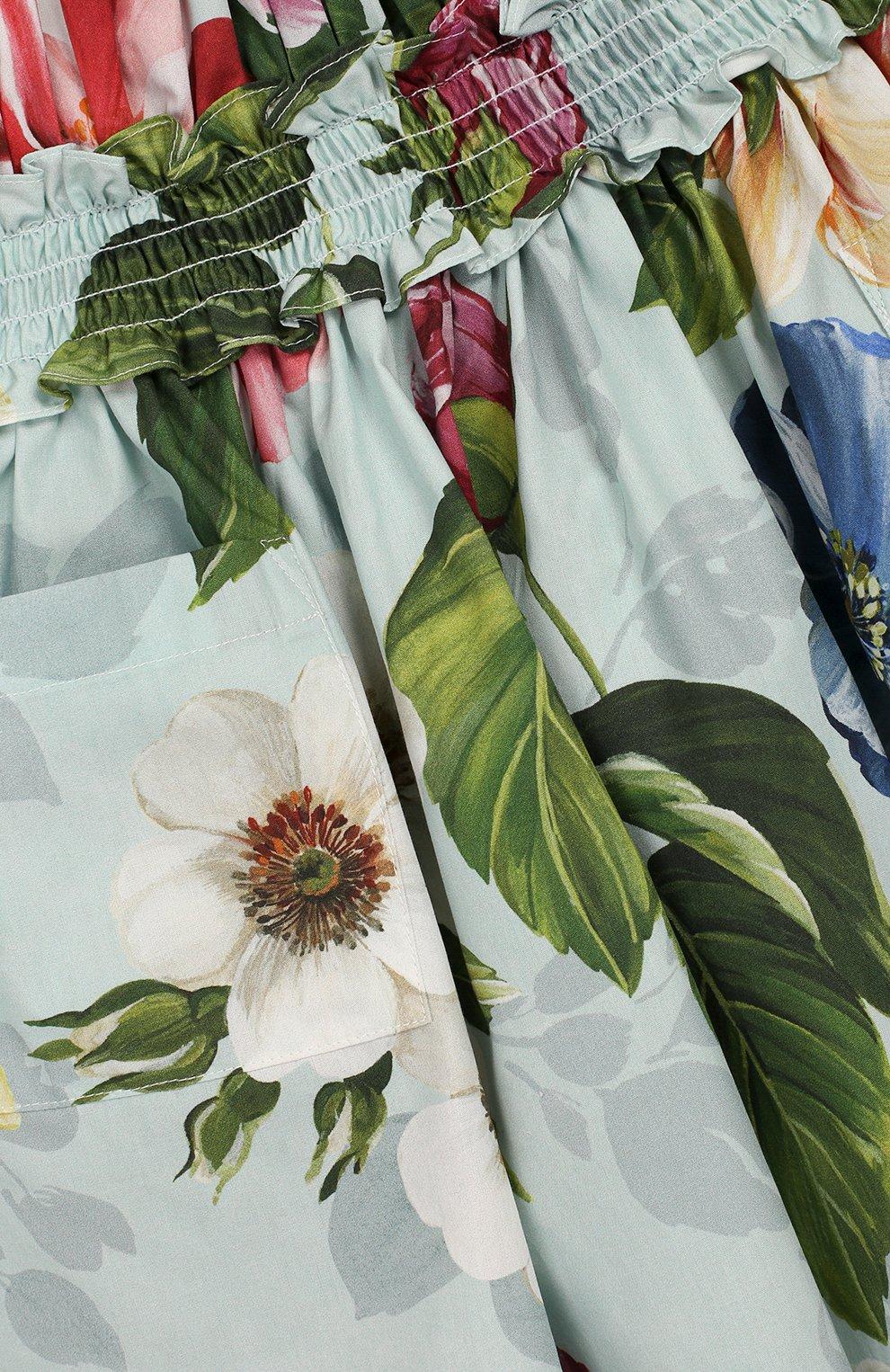 Женская комплект из платья и шорт DOLCE & GABBANA голубого цвета, арт. L22DE5/HS5GB | Фото 6