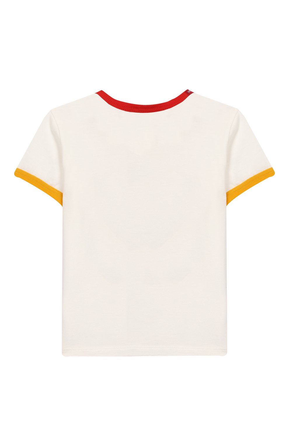 Детский хлопковая футболка DOLCE & GABBANA белого цвета, арт. L1JTBC/G7V00 | Фото 2