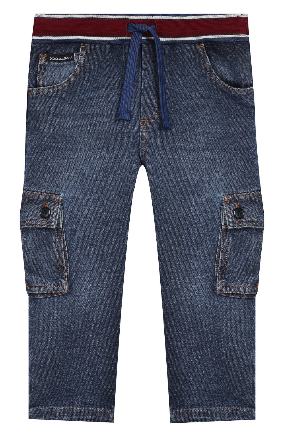 Детские джинсы DOLCE & GABBANA синего цвета, арт. L1JPAV/G7VMW   Фото 1