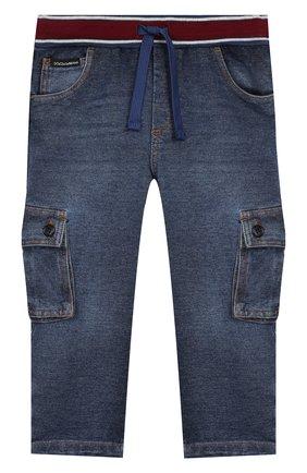 Детские джинсы DOLCE & GABBANA синего цвета, арт. L1JPAV/G7VMW | Фото 1