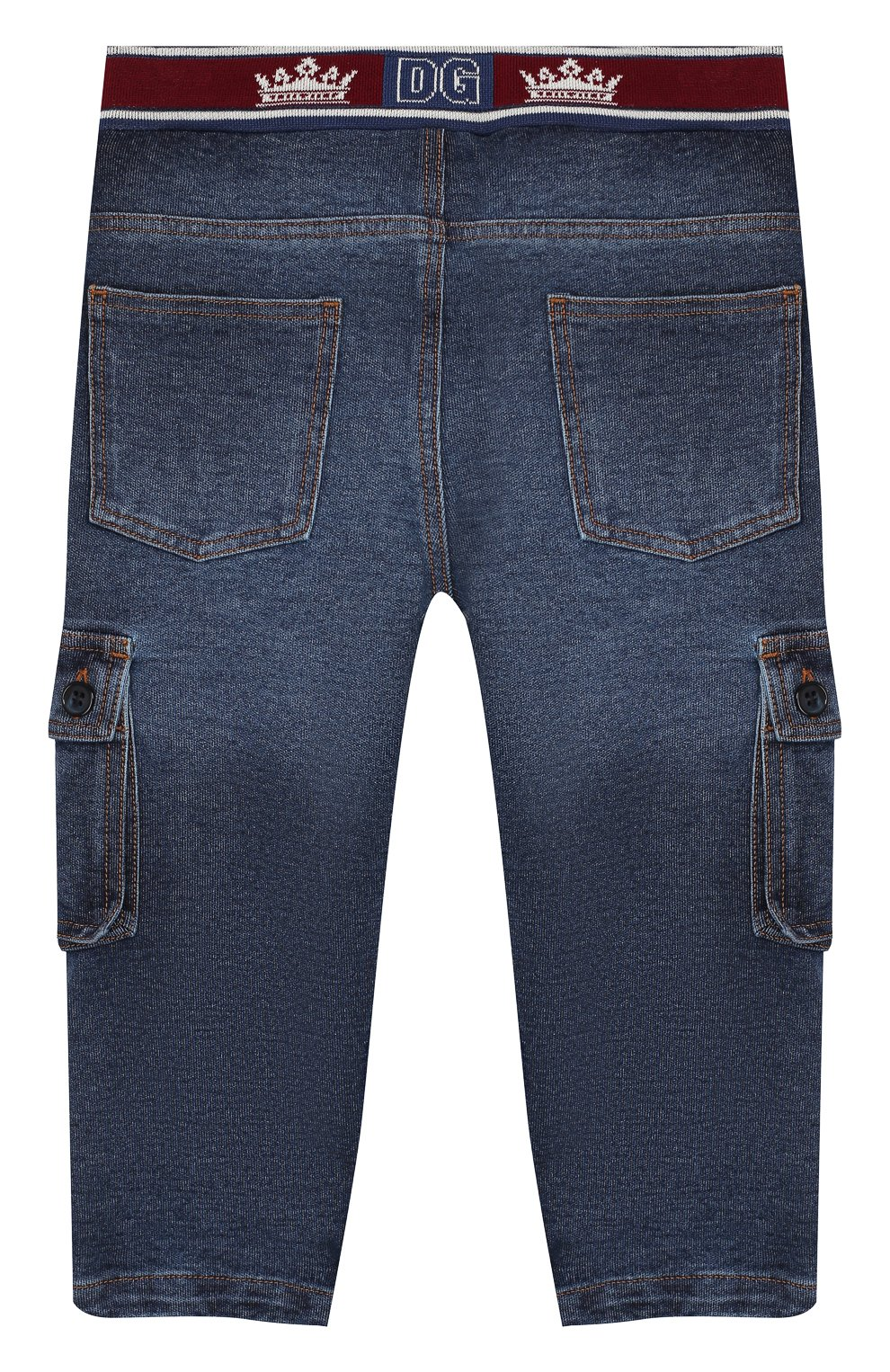 Детские джинсы DOLCE & GABBANA синего цвета, арт. L1JPAV/G7VMW   Фото 2