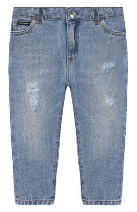 Детские джинсы DOLCE & GABBANA голубого цвета, арт. L12F12/LD875 | Фото 1