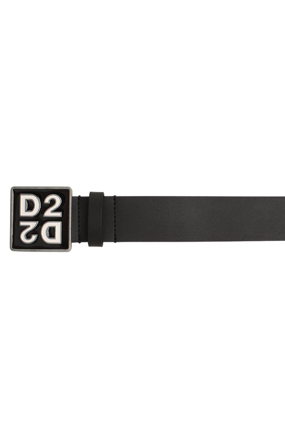 Детский кожаный ремень DSQUARED2 черного цвета, арт. DQ045D-D00XS | Фото 3