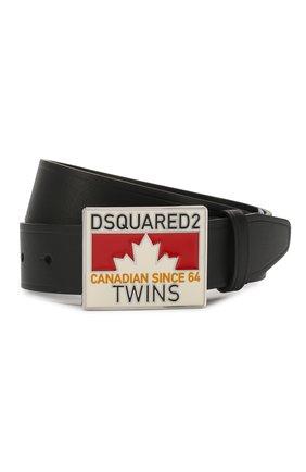 Детский кожаный ремень DSQUARED2 черного цвета, арт. DQ03X9-D00XS | Фото 1