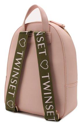 Детская рюкзак TWINSET розового цвета, арт. 201GJ792A | Фото 2