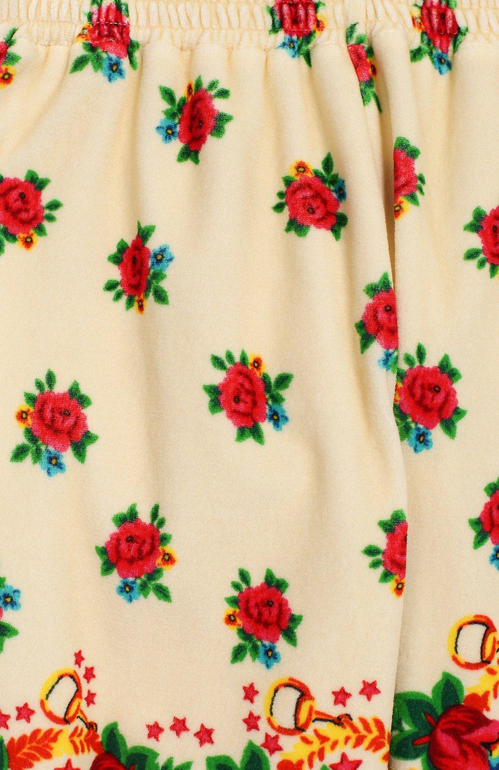 Детские хлопковые джоггеры GUCCI разноцветного цвета, арт. 604377/XJCBH | Фото 3
