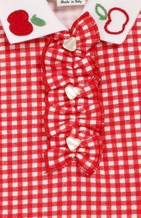 Детский хлопковое поло GUCCI красного цвета, арт. 604322/XJB8U | Фото 3