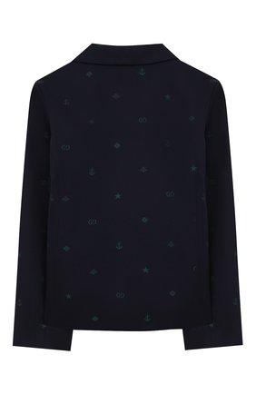 Детский хлопковый пиджак GUCCI синего цвета, арт. 600346/XWAHH | Фото 2