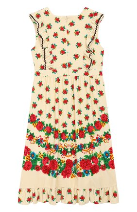 Детское хлопковое платье GUCCI разноцветного цвета, арт. 596311/XJCBJ | Фото 2