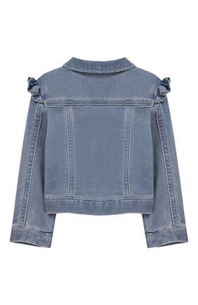 Детского джинсовая куртка EMPORIO ARMANI голубого цвета, арт. 3HEG01/3D0VZ | Фото 2