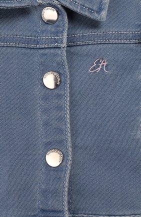 Детского джинсовая куртка EMPORIO ARMANI голубого цвета, арт. 3HEG01/3D0VZ | Фото 3