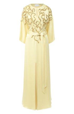 Женское платье-макси MARCHESA желтого цвета, арт. M28700 | Фото 1