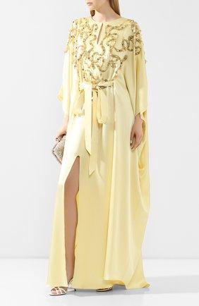 Женское платье-макси MARCHESA желтого цвета, арт. M28700 | Фото 2