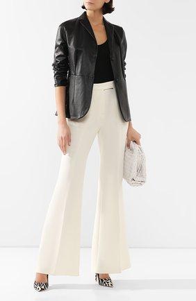 Женская кожаный жакет KITON черного цвета, арт. D49574X08S57 | Фото 2