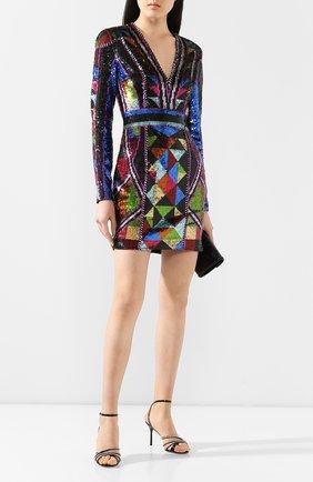 Женское платье с пайетками BALMAIN разноцветного цвета, арт. TF16318/P034 | Фото 2