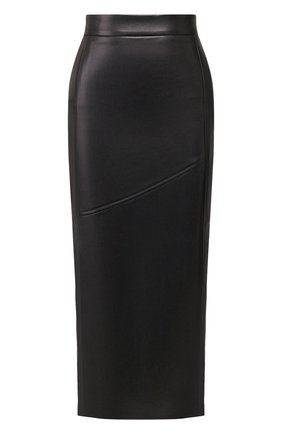 Женская кожаная юбка TWINS FLORENCE черного цвета, арт. TWFPE20G0N0006 | Фото 1