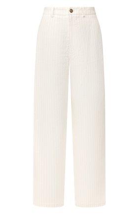 Женские льняные брюки TWINS FLORENCE кремвого цвета, арт. TWFPE20PAN0002 | Фото 1
