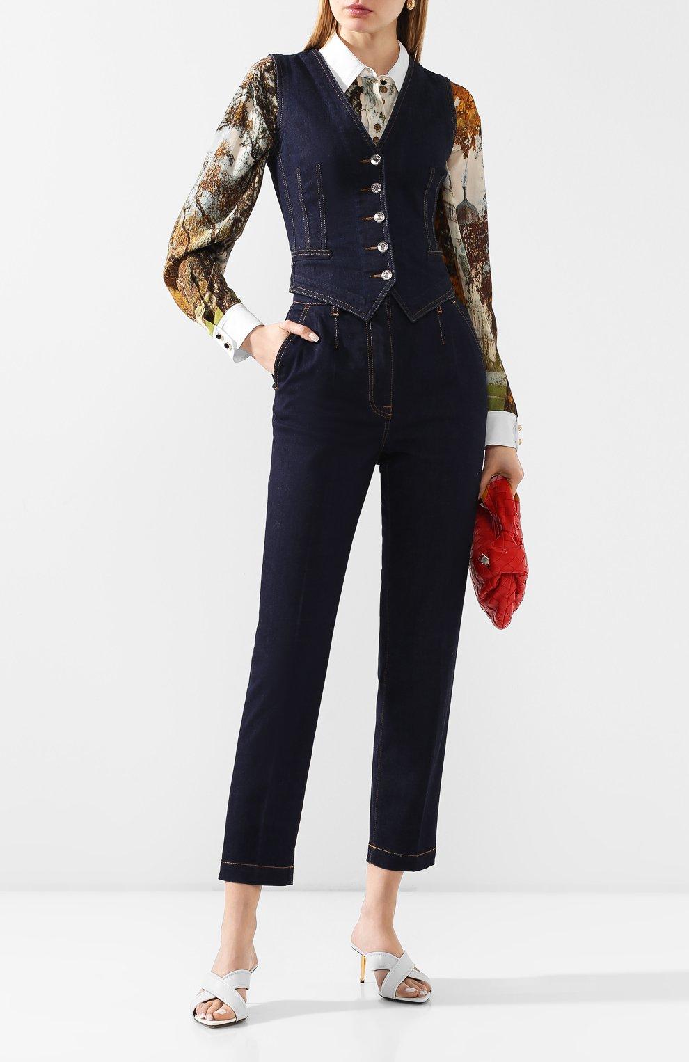 Женский джинсовый жилет DOLCE & GABBANA темно-синего цвета, арт. F79U5D/G899X | Фото 2