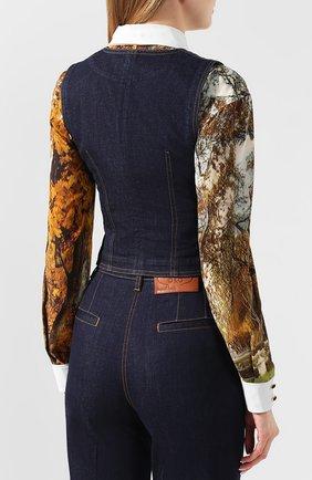 Женский джинсовый жилет DOLCE & GABBANA темно-синего цвета, арт. F79U5D/G899X | Фото 4
