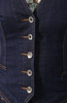 Женский джинсовый жилет DOLCE & GABBANA темно-синего цвета, арт. F79U5D/G899X | Фото 5