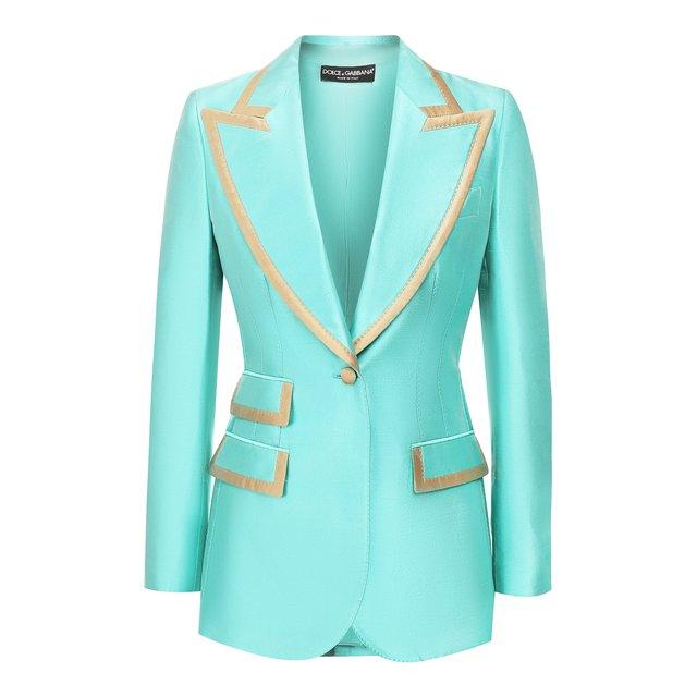 Шелковый жакет Dolce & Gabbana